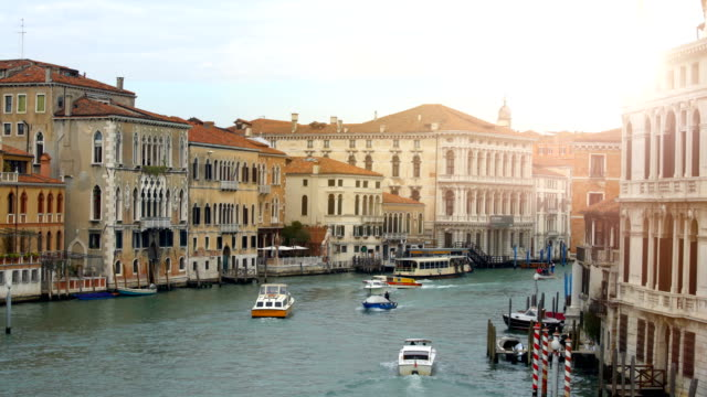 Grande Canale in Venice with sun video