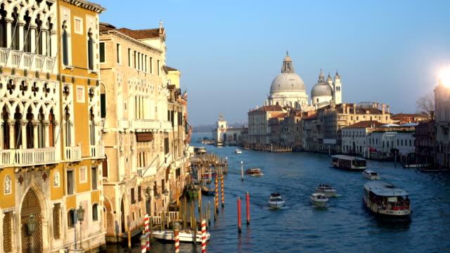 Grande Canale in Venice with sun video