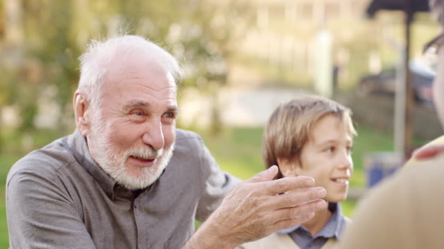 Grandfather and grandson video