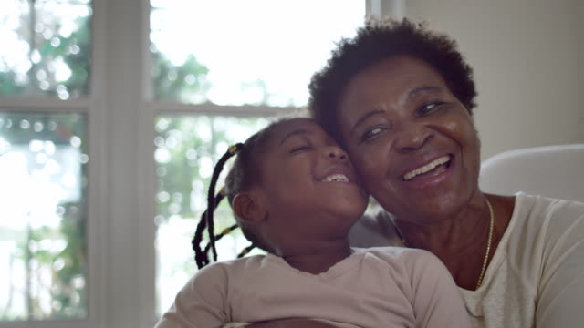 Grandmother and granddaughter Senior woman spending quality time with her granddaughter granddaughter stock videos & royalty-free footage