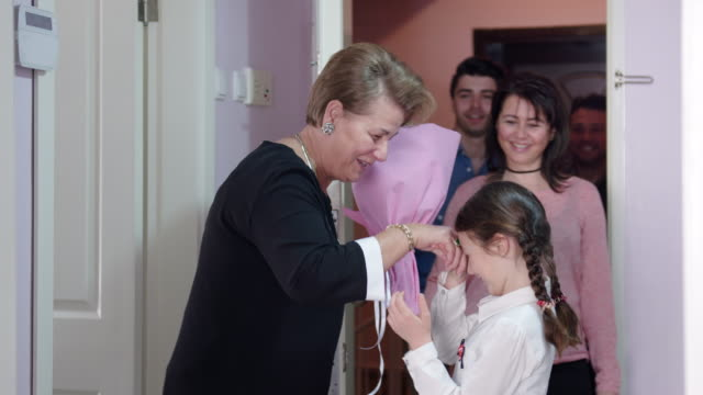 grandmother visit in bayram - cultura turca video stock e b–roll