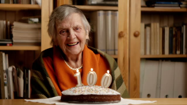 grandmother's 100th birthday - laughing