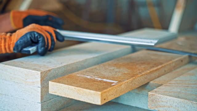 Bидео Granite blocks at a factory