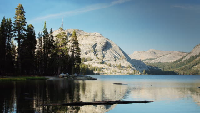 Granite Cliffs and Tranquil Waters in Yosemite National Park video