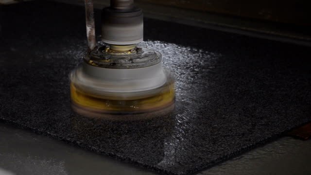 granite cutting - lucidare video stock e b–roll