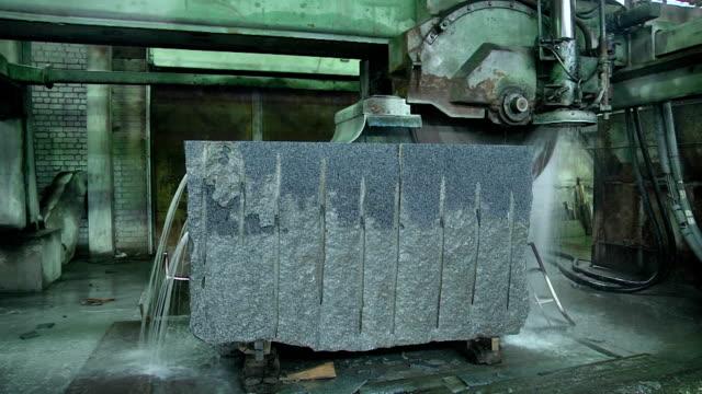 Granite stone cut saw video