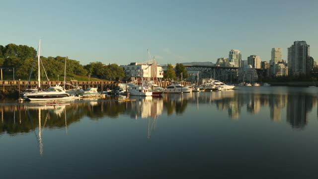 Granville Island Marina and Paddlers, Vancouver video