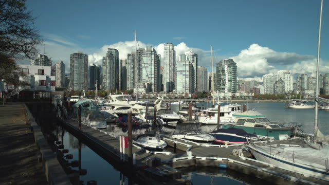 Granville Island Marina and Yaletown Vancouver 4K UHD video