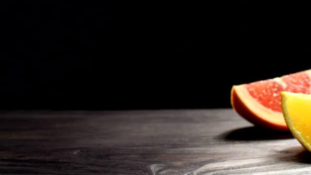 Grapefruit, orange and lemon video