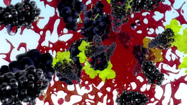 ブドウの背景 - ぶどう イラスト点の映像素材/bロール