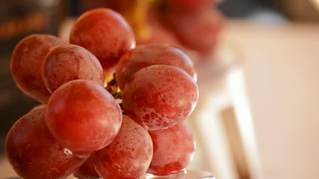 Grapes rotating. Loop. video