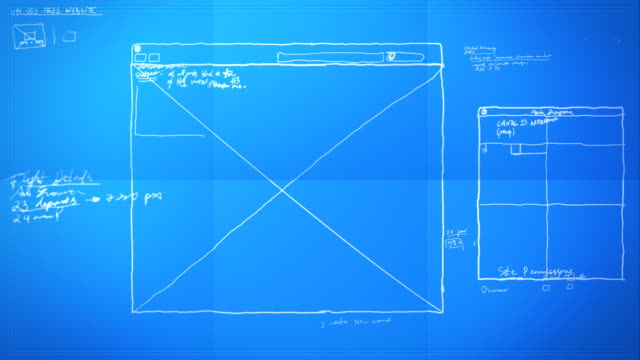 Graphic Design Layout Process Time Lapse Blueprint HD, SD video