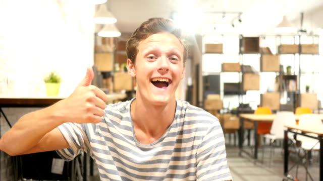 Graphic designer Thumbs Up , success , celebration video