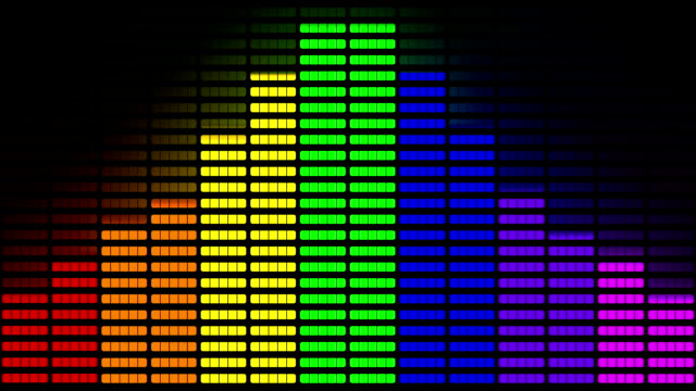 vídeos de stock e filmes b-roll de graphic equaliser made from pride rainbow animation - instrumental