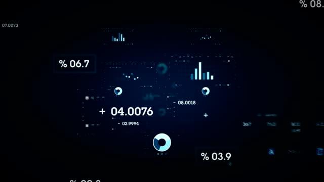 Données graphiques et bleu - Vidéo