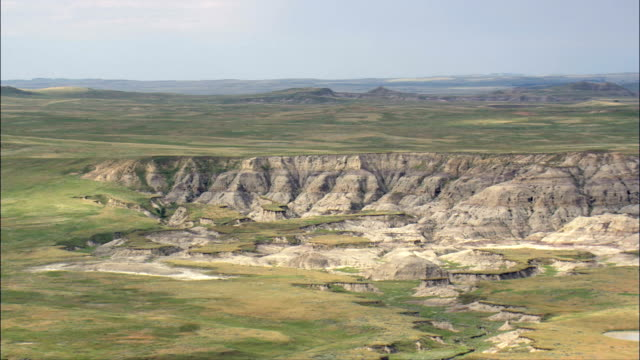Grassland And Ranches  - Aerial View - South Dakota,  Harding County,  United States video