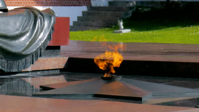 vídeos de stock e filmes b-roll de moscow, russia - jule 222, 2016: , grave of unknown soldier - kremlin, moscow - eternidade