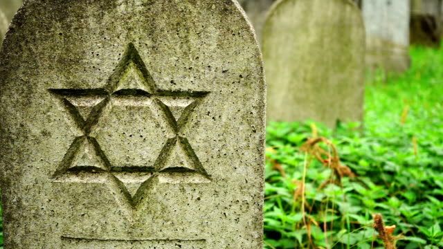Grave stone with Star of David video