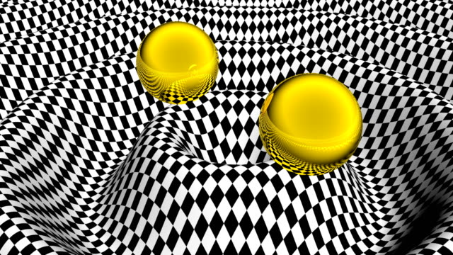 gravitational wave physics background able to loop seamless 4k - campo gravitazionale video stock e b–roll