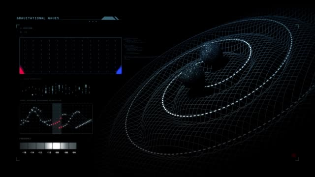 gravitationswellen. 3d motion grafik video - gravitationsfeld stock-videos und b-roll-filmmaterial