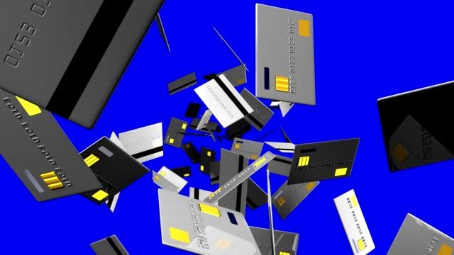 グレーのクレジットカード (青クロマキー) - クレジットカード点の映像素材/bロール