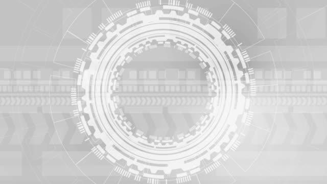회색 미래 기술 배경 애니메이션 - 배경 초점 스톡 비디오 및 b-롤 화면