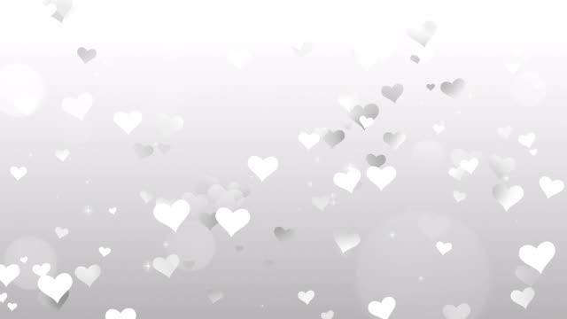 herz grau auf weißem hintergrund - valentinstags karte stock-videos und b-roll-filmmaterial