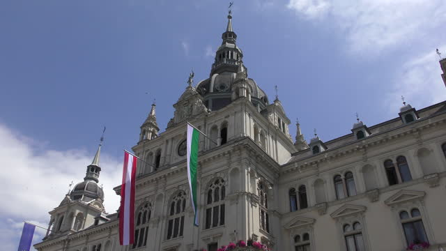 graz - belediye binası - styria stok videoları ve detay görüntü çekimi