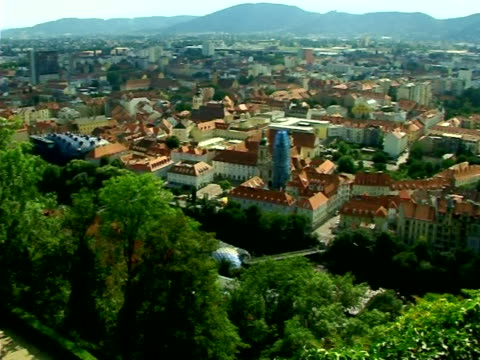graz panorama - styria stok videoları ve detay görüntü çekimi