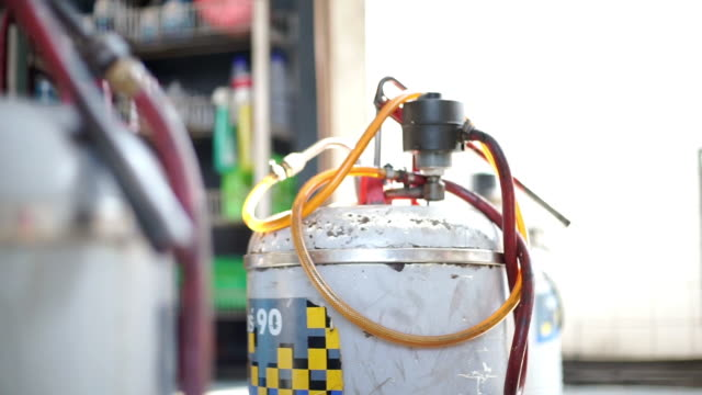 Grease Filler Pump at auto service