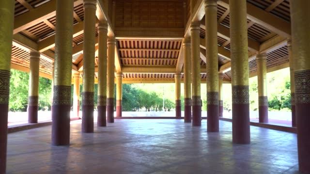 vídeos y material grabado en eventos de stock de gran sala de audiencias, el palacio de mandalay, en myanmar - sudeste