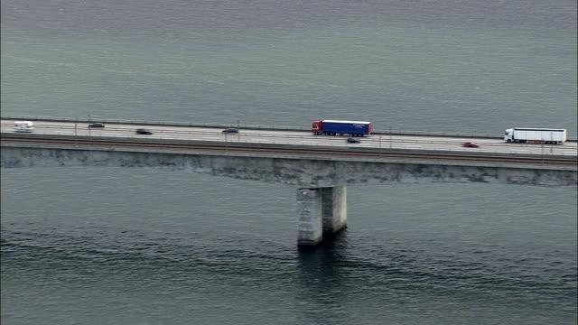 Great Belt Bridge - Aerial View - Zealand, Denmark video