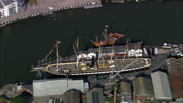 SS Great Britain - Aerial View - England, Bristol, United Kingdom video