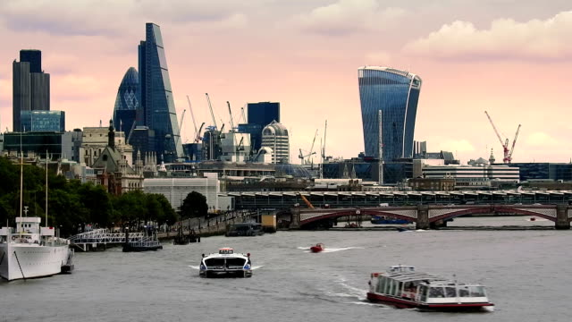 Great Britain, London, Thames river, Blackfriars Bridge video