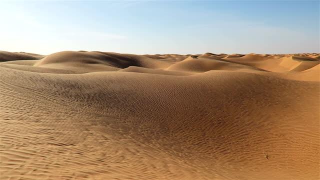 Great Eastern Sand Sea in Sahara desert of Tunisia