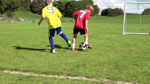 Great football skills at Kid's Soccer / Football, Slow Motion video