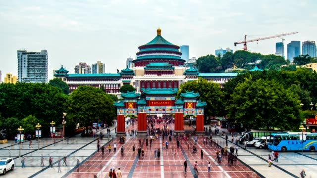 Great Hall of the People in Chongqing Great Hall of the People in Chongqing shanghai stock videos & royalty-free footage