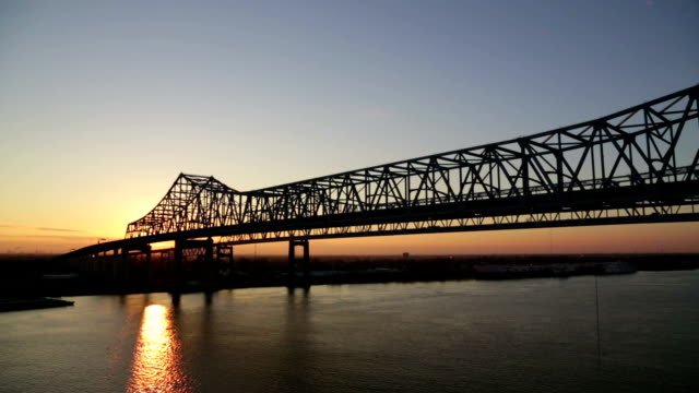 Great New Orleans bridge sunset video