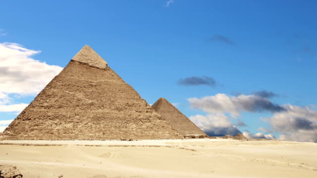 Great Pyramids of Giza. Cairo. Egypt. Time Lapse. video