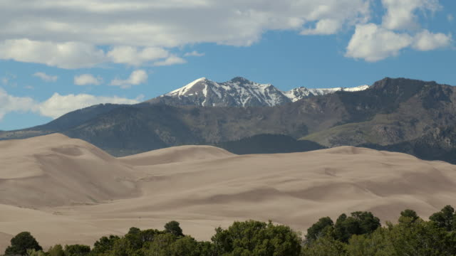 Great Sand Dunes National Park Sangre de Cristo Mountains time lapse Colorado