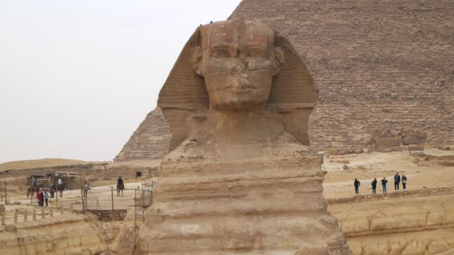 Great Sphinx on the west bank of the Nile in Giza. Egypt