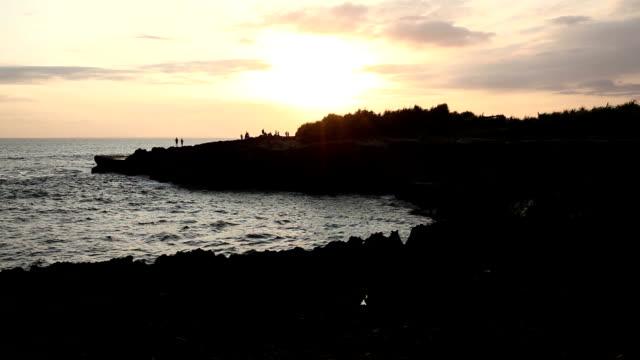 Great sunset at Nusa lembongan beach landscape, Bali video