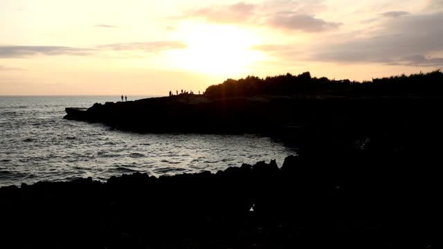 T/L Great sunset at Nusa lembongan beach landscape, Bali video