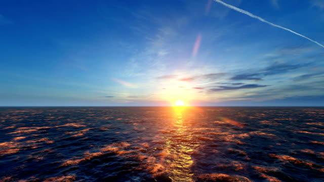 great sunset over sea and amazing sky - спокойная вода стоковые видео и кадры b-roll