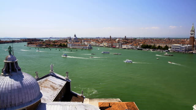 Great view of Venice and Grand Canal from Saint George church, sightseeing tour video
