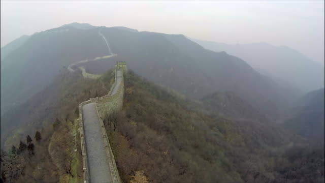 Great Wall of China aerial footage. video
