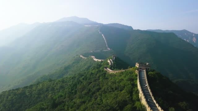 Kinesiska muren Flygfoto video
