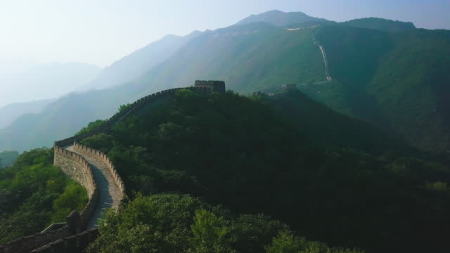 Great Wall of China Aerial View video