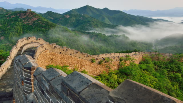 Great wall of China in Stratosphere Fog, China video
