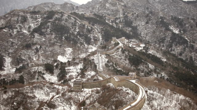 Great Wall of China Reaching Into Distance video